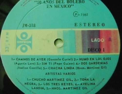 50 boleros en mexico  3 discos  lp vinil