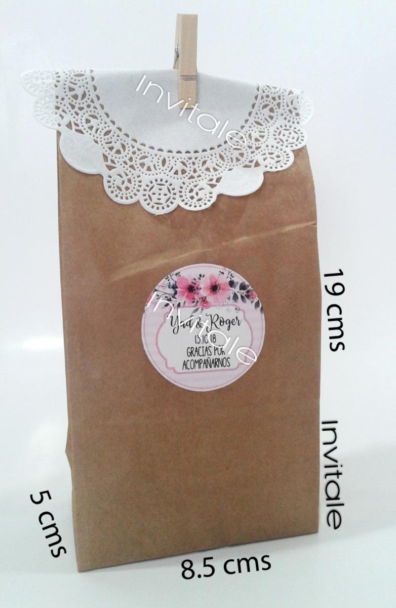 6b776236c 50 bolsas papel kraft dulces boda recuerdos fiestas bautizos. Cargando zoom.