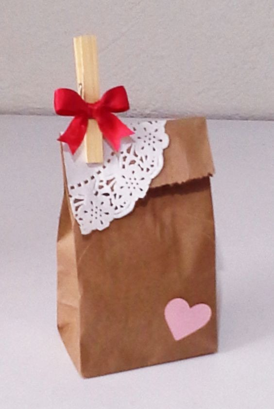 50 bolsas papel kraft dulces boda recuerdos fiestas - Como decorar bolsas de papel ...