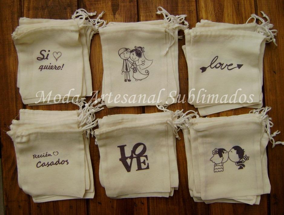 50 Bolsitas Arroz Casamiento Personalizadas Souvenir Novios - $ 750 ...