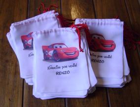 b3a379f31 Bolsitas Cumpleanos De Tela Vegetal Car - Souvenirs para tu ...
