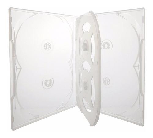 50 box caixa capa estojo para 300 dvds transparente sony