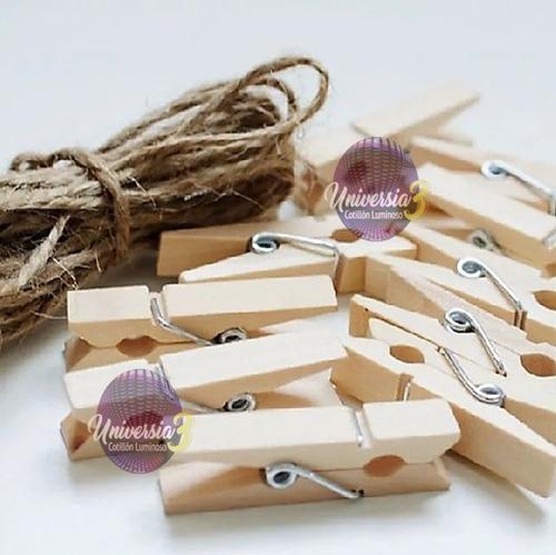 50 broches madera natural decoracion fotos candy bar mini