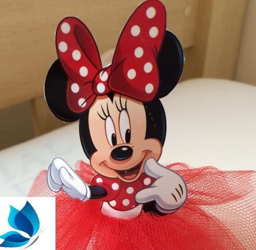 50 bustos para tubete minie mickey mouse 7,5cm pronta entreg
