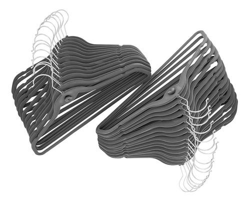 50 cabides de veludo slim ultra finos antideslizantes - begônia
