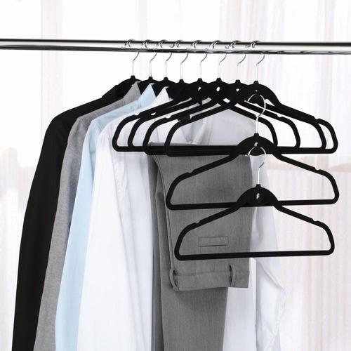 50 cabides pretos de veludo slim ultra finos aveludados