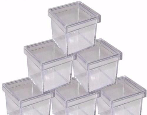 50 caixa caixinha em acrílico 5x5 - frete grátis