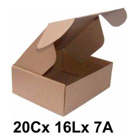 50 Caixas De Papelão Correio Sedex Pac Tamanho 20x16x7