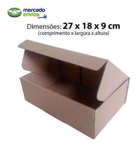 50 caixas de papelão 27x18x9 correios mercado envios me