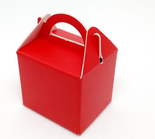 50 caixinha maleta com alça em papel