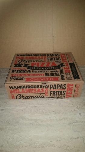 50 cajas para chivito....napolitanas.....empanadas