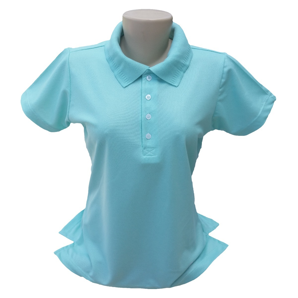 50 camisas polo feminina piquet 100% poliéster para estampar. Carregando  zoom. 6eb9fd9967