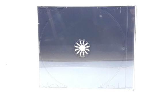 50 capa caixa acrilica cd box grossa preto