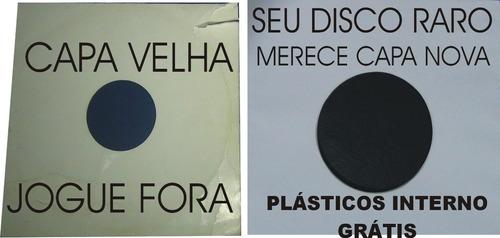 50 capas+50plasticos interno disco vinil lps djs 12-novela