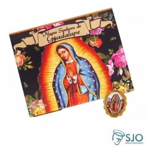 50 cartões com medalha da nossa senhora de guadalupe