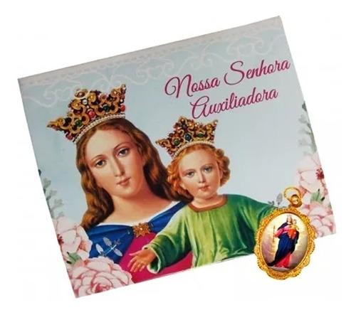 50 cartões com medalha de nossa senhora auxiliadora