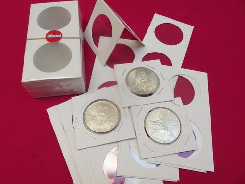 50 cartones monedas 50 piezas 2.5 x 2.5 hecho en mexico full
