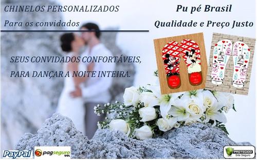 50 chinelos e sandálias para casamento personalizados