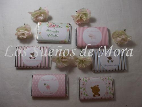 50 chocolates personalizados souvenirs