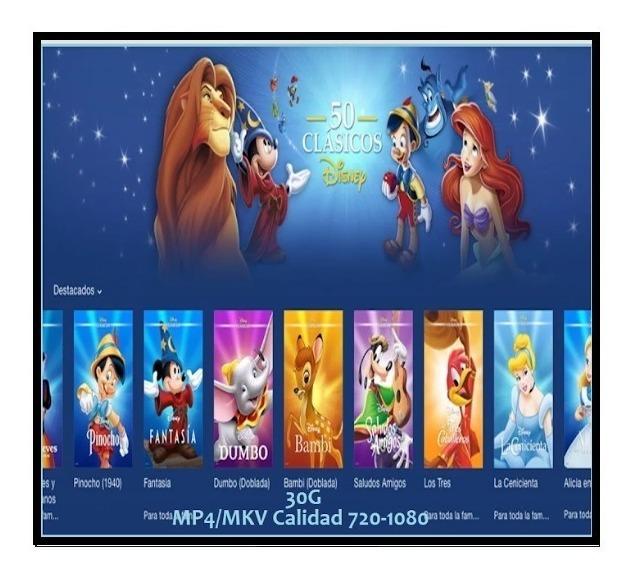 50 Clasicos De Disney Peliculas Vol1 10 000 En Mercado Libre