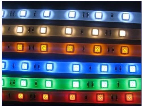 50 cm tira led 60 led por mt p/exterior cinta adhesiva