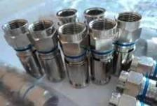 50 conector coaxial rg-6 de presion a prueba de agua ,sol