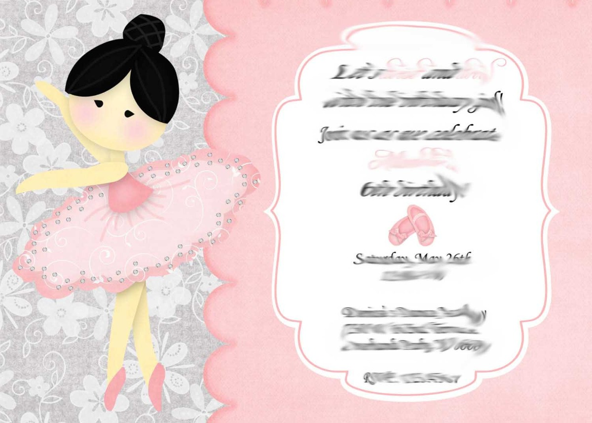 da4c3642bb 50 convite 10x15 aniversário bailarina bailarinas 48hrs. Carregando zoom.