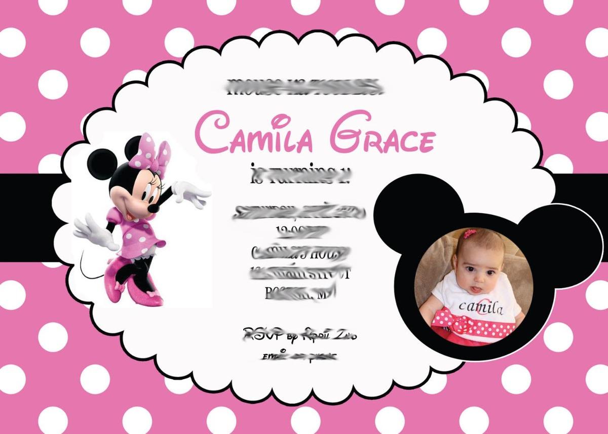 50 Convite 10x15 Mickey Minnie Aniversário Personalizado R 2800