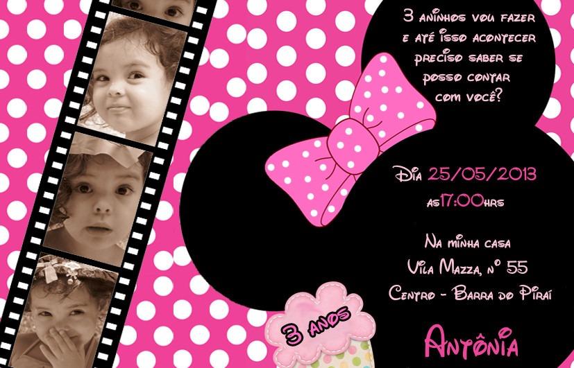 50 Convite 10x7 Mickey Minnie Princesas Galinha Aniversário R 26