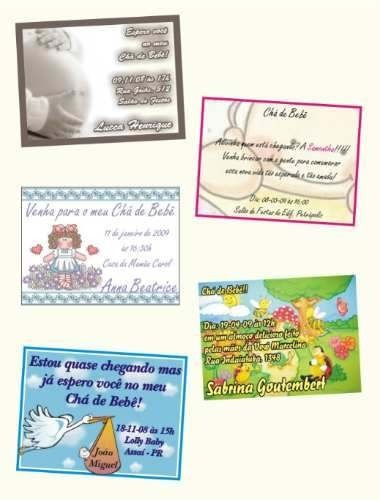 50 convites  7 x 10 com envelopes