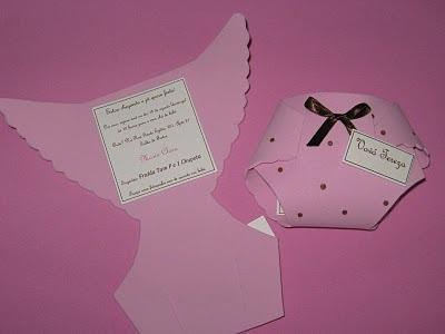 50 convites  fraldinha para chá de bebê