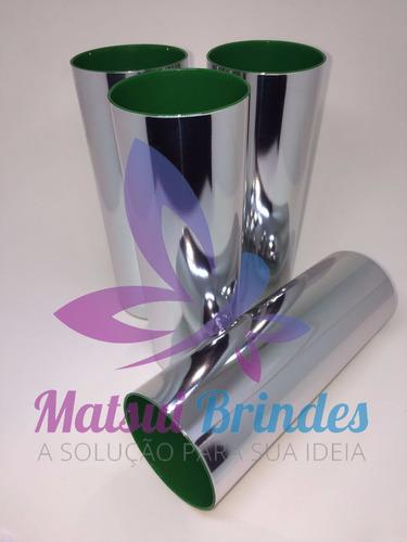 50 copo long drink metalizado para personalizar