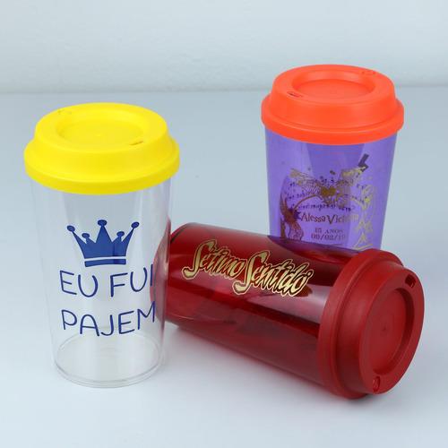 50 copos twister tampa café 575ml acrílico personalizados