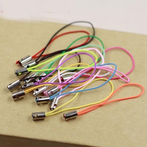 50 cordinhas cordões para celular pen drive 5cm + 50 argolas