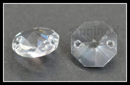 50 cristais castanha italiana com 2 furos para lustres
