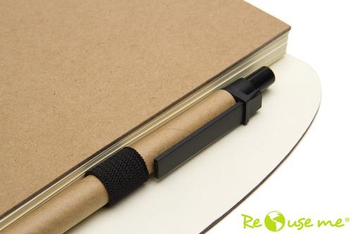 50 cuadernos ecológicos con logo personalizado en la tapa