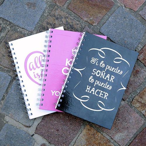 50 cuadernos rayados tapa dura