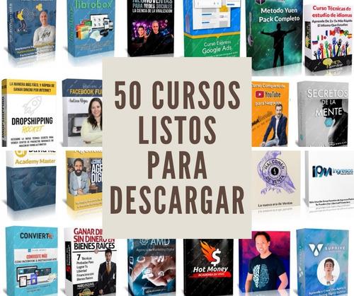 50 cursos virtuales en google drive listos para descargar