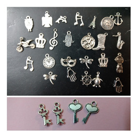 f5925f1a846b 50 Dijes Metal+cinta Oro/plat+anillo Stras P/armar-bodas-15