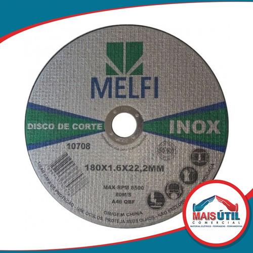 50 disco corte aço inox extra fino 7  ou 180 x 1,6 x 22,23