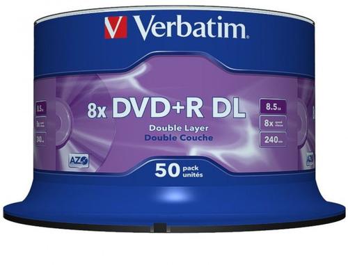 50 dual layer verbatim 8x logo 8.5gb (id mkm003)frete gratis