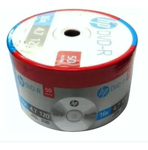 50 dvd hp virgen logo 16x 4.7 gb producto original facturado