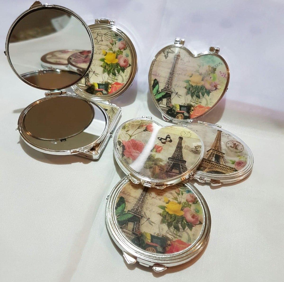 50 espejos de bolsillo tema par s recuerdos boda xv a os en mercado libre - Espejos de bolsillo ...