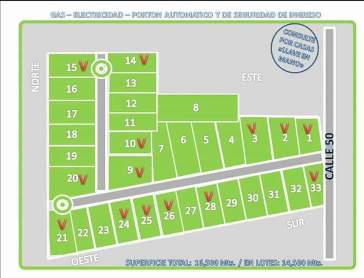 50 esq. 1 villa elisa: lotes en venta