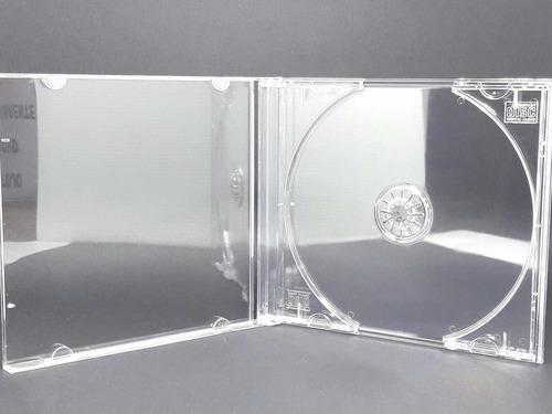50 estojo capa caixa acrilica cd box grossa transparente