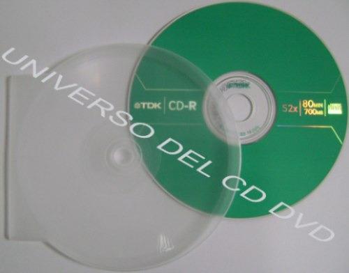 50 estuche polvera concha ostra cd-r dvd-r transparente