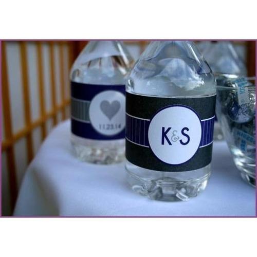 50 etiquetas personalizadas botella de agua