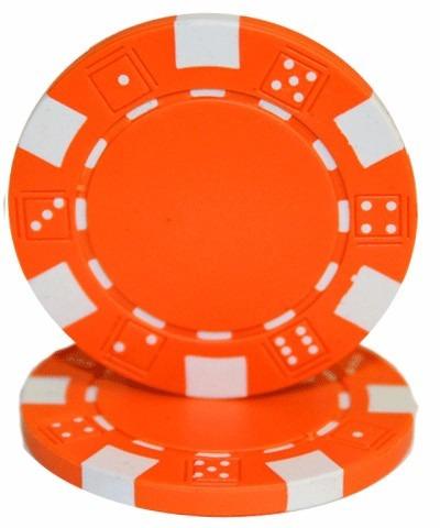50 fichas de poker naranja, rosado, amarillo y plomo masplay