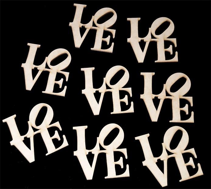 50 figuras formas fibrofacil madera cartelitos love amor 7cm