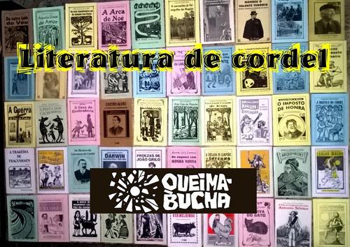 50 folhetos de literatura de cordel